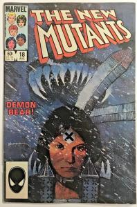 NEW MUTANTS#18 FN/VF 1984 MARVEL COMICS