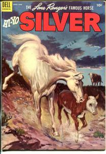 Lone Rangers Famous Horse Hi-Yo Silver-#10 1954-Dell-painted cover-FN