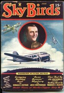 SKY BIRDS -July 1935 - BUZZ BENSON HERO PULP - CAPTAIN EDDIE RICKENBACKER TRI...