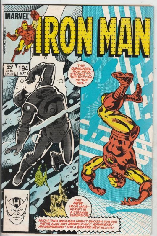 Iron Man #194 (May-86) FN/VF+ Mid-High-Grade Iron Man