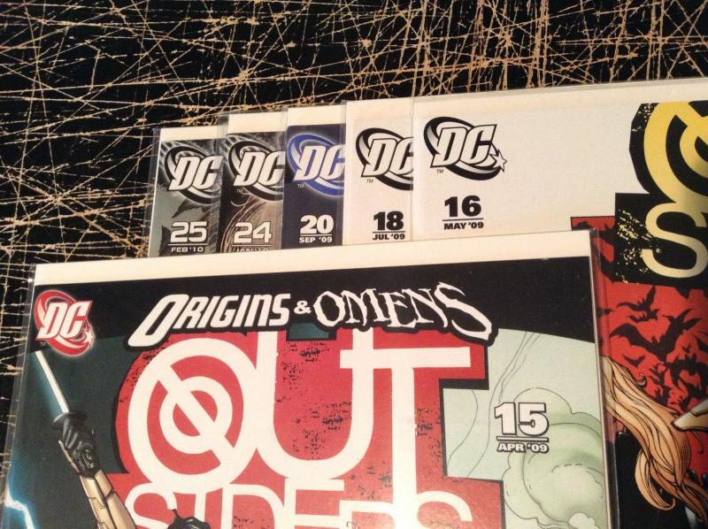 Lot Of 6 Outsiders DC Comic Books # 15 16 18 20 24 25 Awesome Issues WOW!!!!! E4