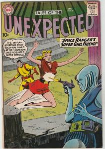 Tales of the Unexpected #56 (Dec-60) FN- Mid-Grade Space Ranger, Cyrl