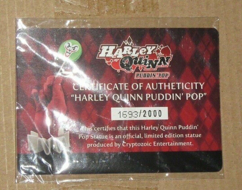 Harley Quinn Puddin' Pop Life Size Statue 2018 Cryptozoic Entertainment Ltd Ed