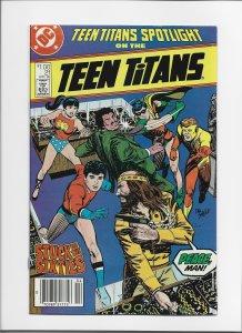 Teen Titans Spotlight #21 (1988) VFNM Last Issue Lower Print Run! Newsstand!!