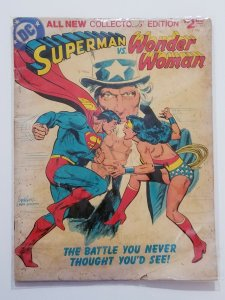 1978 SUPERMAN VS. WONDER WOMAN #C-54 LIMITED COLLECTORS TREASURY EDITION GIANT