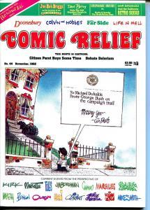Comic Relief #44 1992-Calvin & Hobbes-political cartoons-Toles-Doonesbury-FN/VF