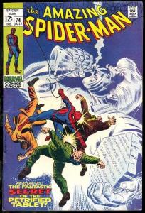 AMAZING SPIDER-MAN #74-NICE COPY PETRIFIED TABLET ISSUE FN+