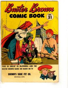 Buster Brown Comics # 31 VG Comic Book Promo Shoe Giveaway Snake Charmer JL17