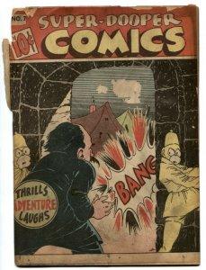 Super-Dooper Comics #7 1946-SHOCK GIBSON-Hitler- Nazi G