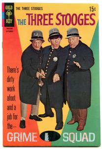 THE THREE STOOGES #40 1968-GRIME SQUAD-GOLD KEY-PHOTO VF