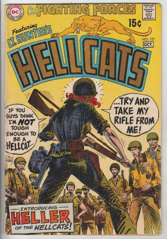 Our Fighting Forces #121 (Oct-69) VG/FN Mid-Grade Lt. Hunter's Hellcats