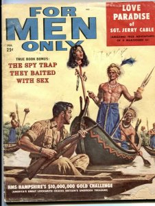 For Men Only February 1958- decapitated head cover- Sgt Jerry Cable
