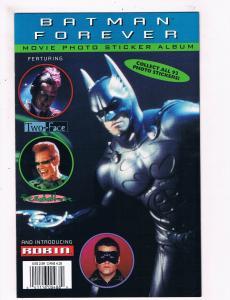 Batman Forever Movie Photo Sticker Album # 1 DC Comic Books Robin Two-Face!! SW7