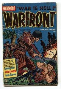 WARFRONT #4 1952-HARVEY COMICS-BRUTAL COMBAT COVER G