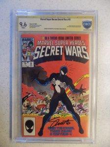 MARVEL SUPER-HEROES SECRET WARS # 8 SPIDER-MAN SIGNED JIM SHOOTER