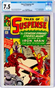 Tales of Suspense #52 CGC Graded 7.5 1st appearance of the Black Widow (Natas...