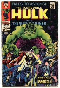 Tales To Astonish #101-hulk/sub-mariner-1967 Vg-