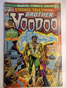 STRANGE TALES # 169 MARVEL BRONZE FIRST BROTHER VOODOO TAPE RESIDUE ON SPINE