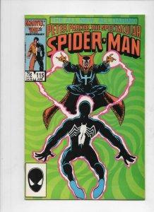 Peter Parker SPECTACULAR SPIDER-MAN #115 VF+, Dr Strange 1976 1986 more in store