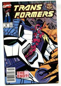 TRANSFORMERS #75 comic book Tough late issue-VF/NM