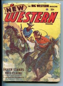 NEW WESTERN-JAN 1953-VIOLENT PULP FICTION-BOUND MAN COVER-PEACOCK-HENDRYX-good