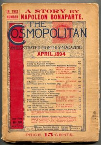Cosmopolitan April 1894- Napoleon Bonaparte- Phantom of the Mines
