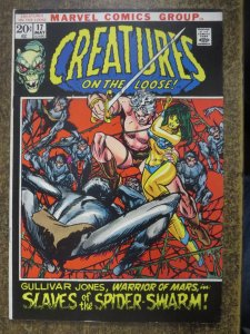 CREATURES ON THE LOOSE (1971-1975) 17 VG COMICS BOOK