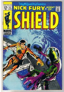 NICK FURY, AGENT of SHIELD #11, FN+, Barry Smith, 1968, more in store