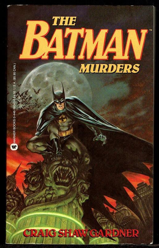 Gardner, Craig Shaw: The Batman Murders - Paperback 1st Print 1990