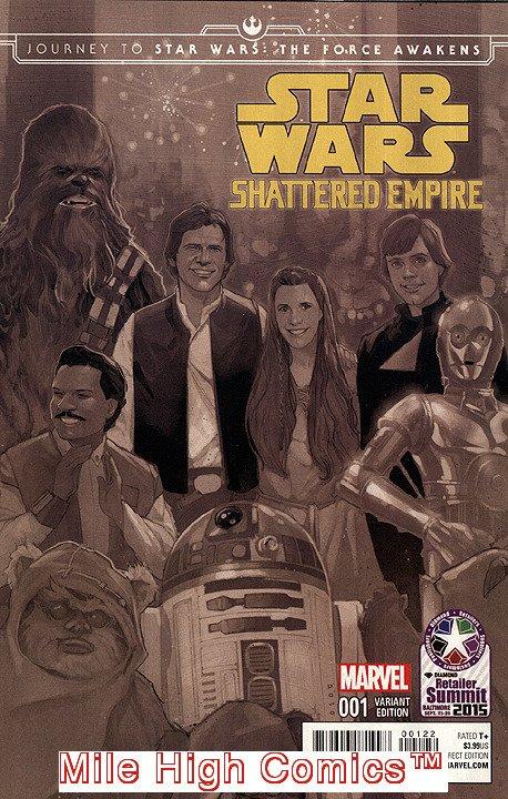 STAR WARS: FORCE AWAKENS - SHATTERED EMPIRE (2015 Series) #1 RETAILER Near Mint