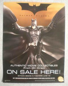 BATMAN BEGINS Promo Poster, 10x13, 2005,  Unused, more Promos in store