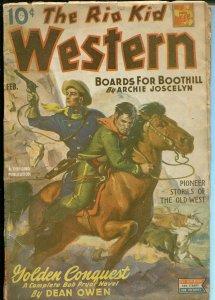 Rio Kid Western 2/1945-Thrilling-Bob Pryor-continuing hero pulp-Dean Owen-VG