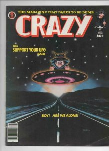 CRAZY #38 Magazine, FN, UFO, Close Encounters, 1973 1978, more in store