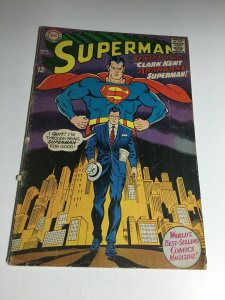 Superman 201 Gd Good 2.0 Cover Detached DC Comics