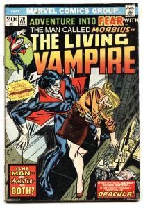 Fear #20 1973 comic book 1st solo Morbius Marvel VG