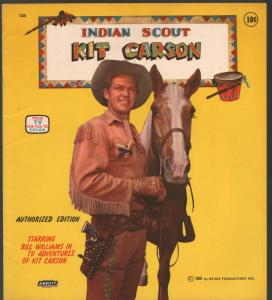 Kit Carson Indian Scout Coloring Book #1325 1956-Bill Williams-TV series-VF
