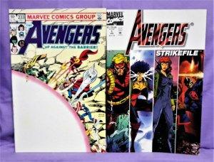 Secret Wars AVENGERS #233 and AVENGERS STRIKE FILE #1 (Marvel 1983-1994)!