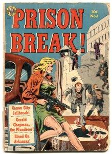 Prison Break #1 1951- Classic Wally Wood gun moll headlight cover F/G
