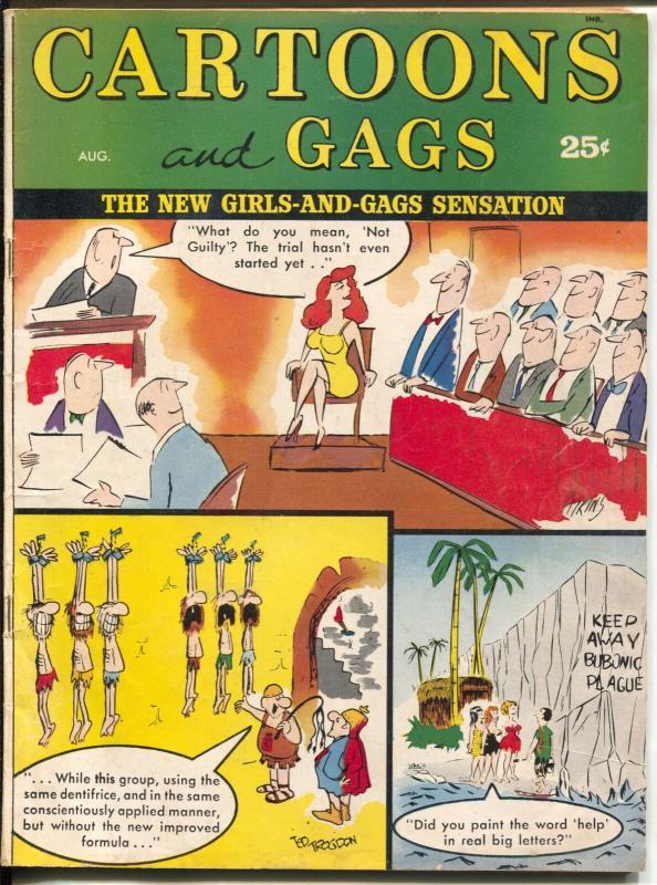 Cartoons and Gags 8/1963-Marvel-jokes-Dare-Johnnie Wilson-VG