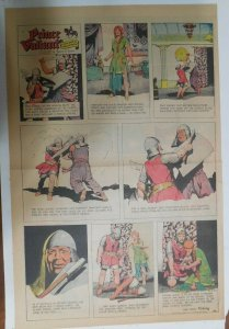 Prince Valiant Sunday #1660 by Hal Foster from 12/1/1968 Rare Full Page Size !