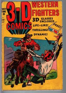 3-D Western Fighters #1-1953-L.B. Cole-Golden Age-VG