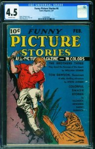 Funny Picture Stories #4 CGC 4.5 1937-Rare comic book-Will Eisner