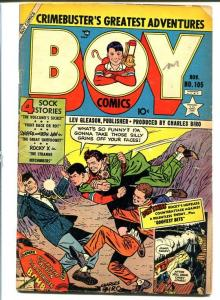 BOY COMICS #105-ATOMIC BOMB cover-Golden Age VG
