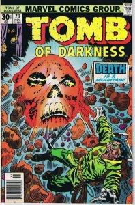 Tomb of Darkness #23 ORIGINAL Vintage 1976 Marvel Comics Horror