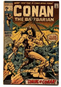 Conan The Barbarian #1 1970 Bronze Age Key Marvel Barry Smith vf-