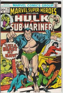 Marvel Super-Heroes Featuring Hulk and Sub-Mariner #39 (Oct-73) NM Super-High...