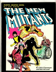 Marvel Graphic Novel # 4 VF 4th Print Comic Book New Mutants 1st Appearance HY1