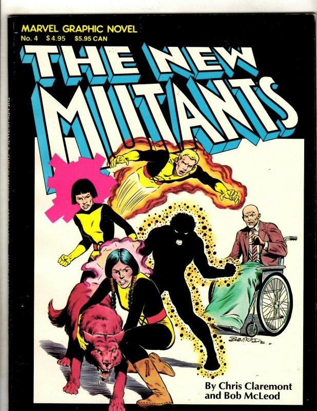 Marvel Graphic Novel # 4 VF 4th Print Comic Book New Mutants 1st Appearance HY1