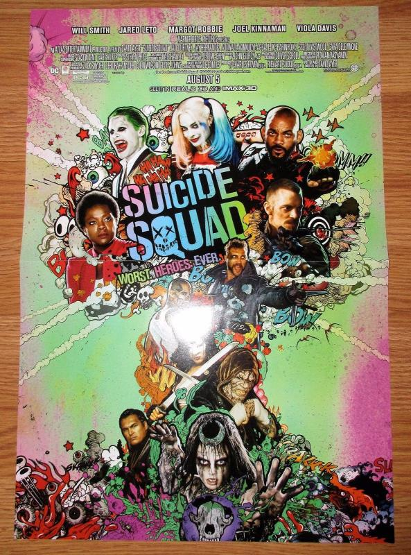 Suicide Squad Folded Movie Promo Poster (11 x 17) by DC Comics
