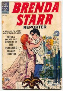 Brenda Starr Reporter #1 1963- Dell comics- poisoned black orchid G